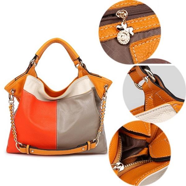 Для пошива сумки используется разнообразная металлическая фурнитура