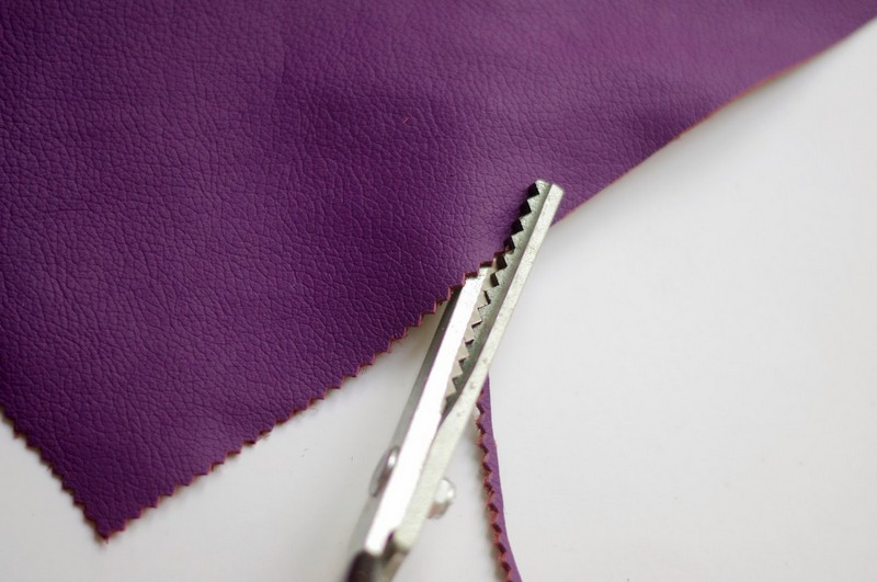 Ножницы «зигзаг» длякожи