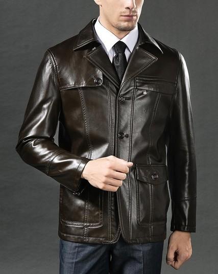 Мужская кожаная куртка вклассическом стиле