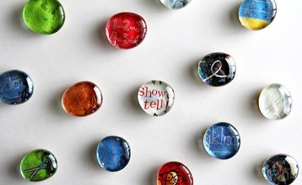 Декоративные стеклянные магнитики нахолодильник