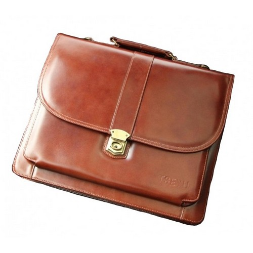 Кожаный деловой портфель назамке