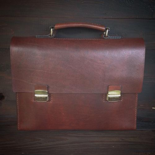 Винтажный портфель ручной работы