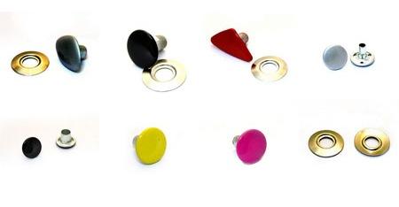 Цветные круглые заклепки